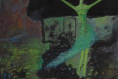 刘丽芬 Liu Lifen 夜 Evening 纸本彩墨Ink and Water color on Paper 50x50cm 2001