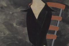 刘丽芬 Liu Lifen  期待 Expect,纸本彩墨  140x80cm 2002