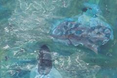 刘丽芬 Liu Lifen 嬉戏 Play 纸本彩墨 Ink and Chinese water color on Paper 100x200cm 2005
