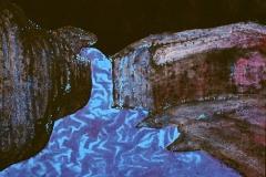 刘丽芬Liu Lifen 瀑布Waterfall纸本彩墨 Ink and Chinese color on Paper 100x100cm 2006