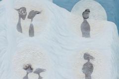 刘丽芬 Liu Lifen《转眼间 之三 That Time03 》1-3 布面综合材料 Mixed Media on Canvas 150X90cm 2006-2008