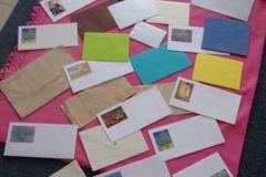 """收集到的纸质信封,刘丽芬 Liu Lifen """"情书"""" 2007"""