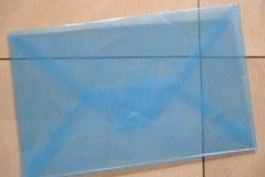 """尝试制作的塑料信封, 刘丽芬 Liu Lifen """"情书"""" 2007"""