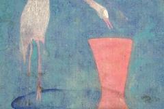 刘丽芬 Liu Lifen 鸟之一 Bird No.1 纸本彩墨 Chinese water color on paper 32x40cm 2007
