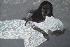 刘丽芬Liu Lifen 无题untitle  纸本彩墨 Ink and Acylic on paper 97x99cm 2008