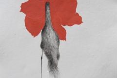 刘丽芬 Liu Lifen 直觉之二  Feeling no.2 纸本彩墨 Colour ink on paper 33.5x38cm 2009
