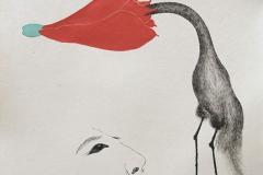 刘丽芬 Liu Lifen 直觉之三 Feeling no.3 纸本彩墨 Colour ink on paper 33.5x38cm 2009