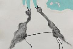 刘丽芬 Liu Lifen 直觉之四 Feeling no.4 纸本彩墨 Colour ink on paper 33.5x38cm 2009