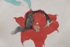 刘丽芬 Liu Lifen 直觉之五 Feeling no.5 纸本彩墨 Colour ink on paper 33.5x38cm 2009