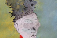 刘丽芬 Liu Lifen 直觉之六  Feeling no.6 纸本彩墨 Colour ink on paper 33.5x38cm 2009