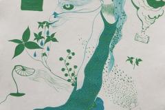 刘丽芬 Liu Lifen  无题 Untitled 纸本彩墨Colour ink on paper 33.5x38cm 2009