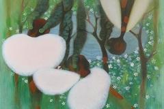 刘丽芬Liu Lifen 林中 In the Woods 布面油画 Oil on Canvas 100x130cm 2010-2016