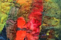刘丽芬Liu Lifen 溺爱 Dotes 纸本丙烯水彩 Acylic & Watercolor on Paper 90x150cm 2012