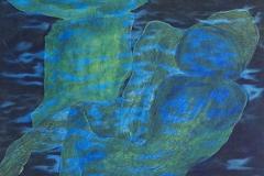 刘丽芬Liu Lifen 蘑菇云Mushroom Love 丝绸综合材料 Mixed Media on Silk 48x54.5cm 2012