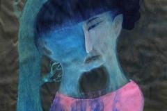 刘丽芬Liu Lifen 另一半 The Other  Half 丝绸综合材料 Mixed Media on Silk 42x60cm 2012