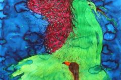 刘丽芬Liu Lifen 传说 Legend 纸本丙烯水彩Acrylic ink and Watercolor on paper 150x100cm  2013