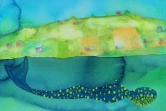 刘丽芬 Liu Lifen 泳No.1 Swim No.1 纸本丙烯 Acylic ink on Paper 32x40.8cm 2014