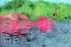 刘丽芬Liu Lifen 泳 Swim 纸本丙烯Acylic on Paper 32x40.8  2014