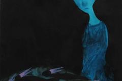 刘丽芬 Liu Lifen 凝视Gaze 纸本墨 丙烯水彩 Chinese Ink, Acylic and Watercolour on Paper,99x70.2cm, 2015