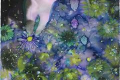 刘丽芬Liu Lifen 摘Pick 纸本丙烯,墨,水彩Ink, Acrylic and Water Color on Paper 66x50cm 2016