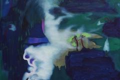 刘丽芬Liu Lifen 隐山水 Disappear in the Mountains and Water 布面丙烯油彩Oil, Acrylic on Canvas 120x150cm 2016