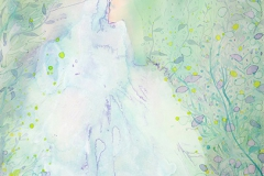 刘丽芬Liu Lifen 跑Run 纸本丙烯,墨,水彩Acylic, Water Color and ink on Paper 45.5x30.5cm 2016