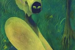 刘丽芬Liu Lifen 林中In the Woods纸本丙烯水彩Acrylic and Water Color on Paper 31.5x44.5cm 2016