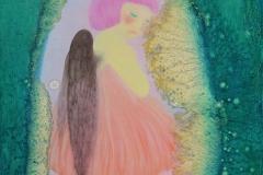 刘丽芬Liu Lifen 儿时梦 A Girl Dream布面油画Oil on Canvas 100x80cm 2016