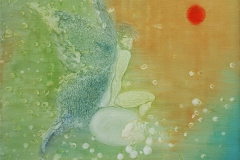 刘丽芬Liu Lifen 待Wait 布面油画Oil on Canvas 100x80cm 2016