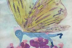 刘丽芬Liu Lifen 采Collecting Pollen 纸本丙烯水彩Acylic, Water Color and ink on Paper 39X54cm 2016