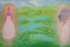 刘丽芬Liu Lifen 冰岛 Iceland布面油画Oil on Canvas 100x180cm 2016