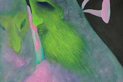 刘丽芬Liu Lifen 私语Whisper  纸本丙烯 Acylic on Paper 45.5x31.5cm 2017
