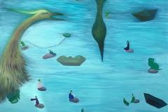 刘丽芬Liu Lifen 湖No.3 Lake No.3  布面油画Oil on Canvas 120x150cm 2011-2019