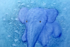 Liu Lifen 刘丽芬 The Elephant 小象 Oil on Canvas 布面油画 70x70cm 2019