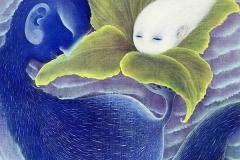 Liu Lifen 刘丽芬  Pregnant 孕 Oil on Canvas 布面油画  45x60cm 2019
