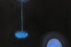 Liu Lifen 刘丽芬 Ljuset därute var blått 外面的灯是蓝色的 Ink and Acylic on Paper 纸本墨丙烯30.5x45.5cm 2020