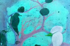 Liu Lifen 刘丽芬 Höst är som vår, fast tvärt om 秋天就是我们的秋天,尽管恰恰相反Acylic and colored pencils on Paper 纸本丙烯彩铅 30.5x45.5cm 2020